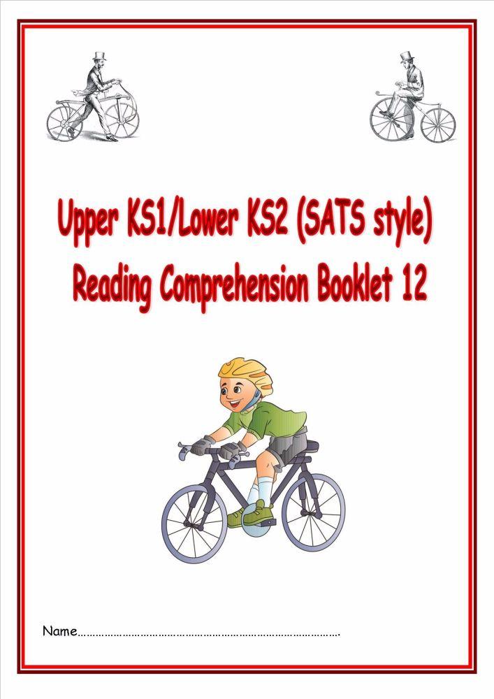 KS1/LKS2 SATs style reading comprehension booklet based on Bicycles.  Desig