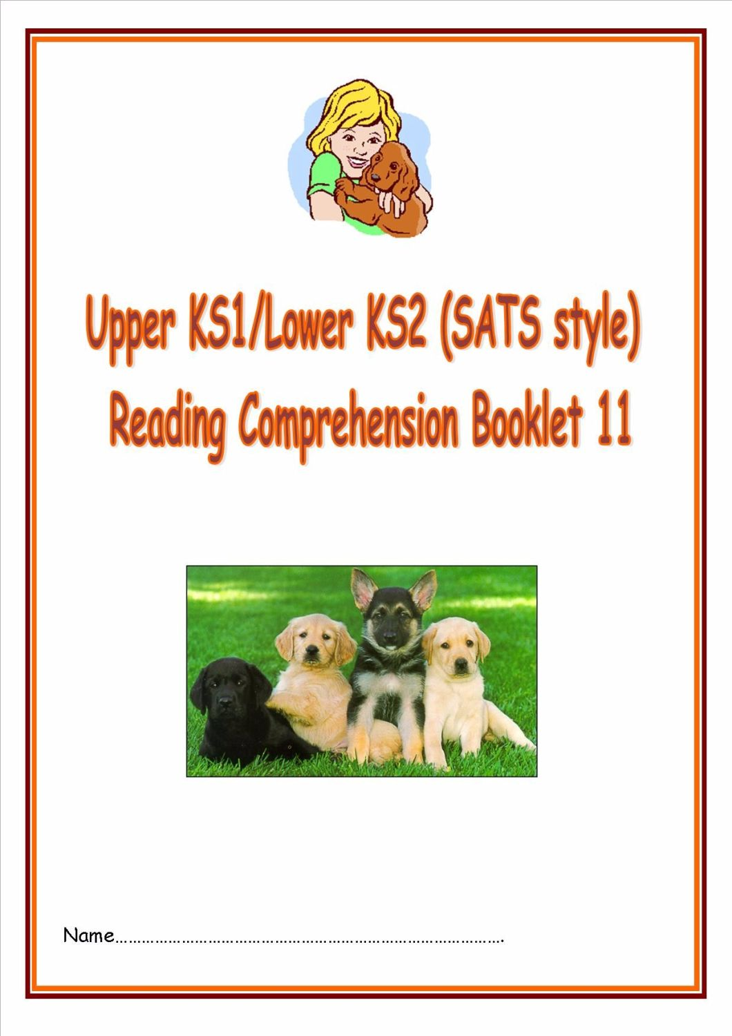 KS1/LKS2 SATs style reading comprehension booklet based on Dogs.  Designed