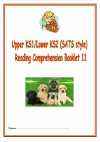 KS1/LKS2 SATs style reading comprehension booklet based on Dogs.  Designed to address New Curriculum requirements.