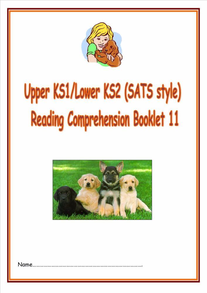 KS1/LKS2 SATs style reading comprehension booklet based on Dogs.  Designed