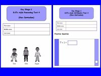 KS1, Year 2, SATs style Reasoning and Arithmetic combined pack 4 (New Curriculum)