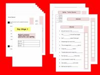New KS1,Year 2 SATs SPaG Practice Papers.