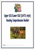 KS1/LKS2 SATs style reading comprehension booklet based on HORSES.