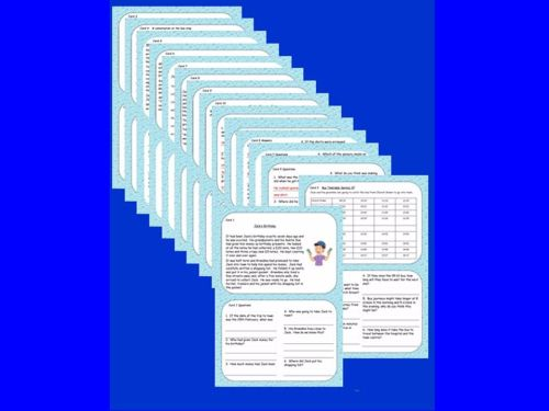 New! Lower KS2 Reading Comprehension/Problem Solving Cards.