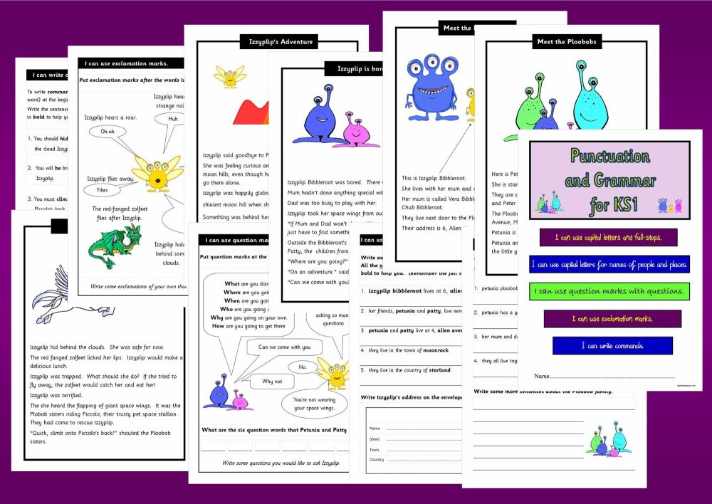 New KS1, Year 2, Punctuation and Grammar Activity Book