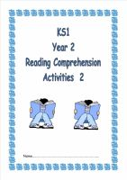 KS1, Year 2 Reading Comprehension Booklet 2