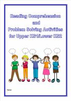 Reading Comprehension/Problem Solving for KS1 and Lower KS2