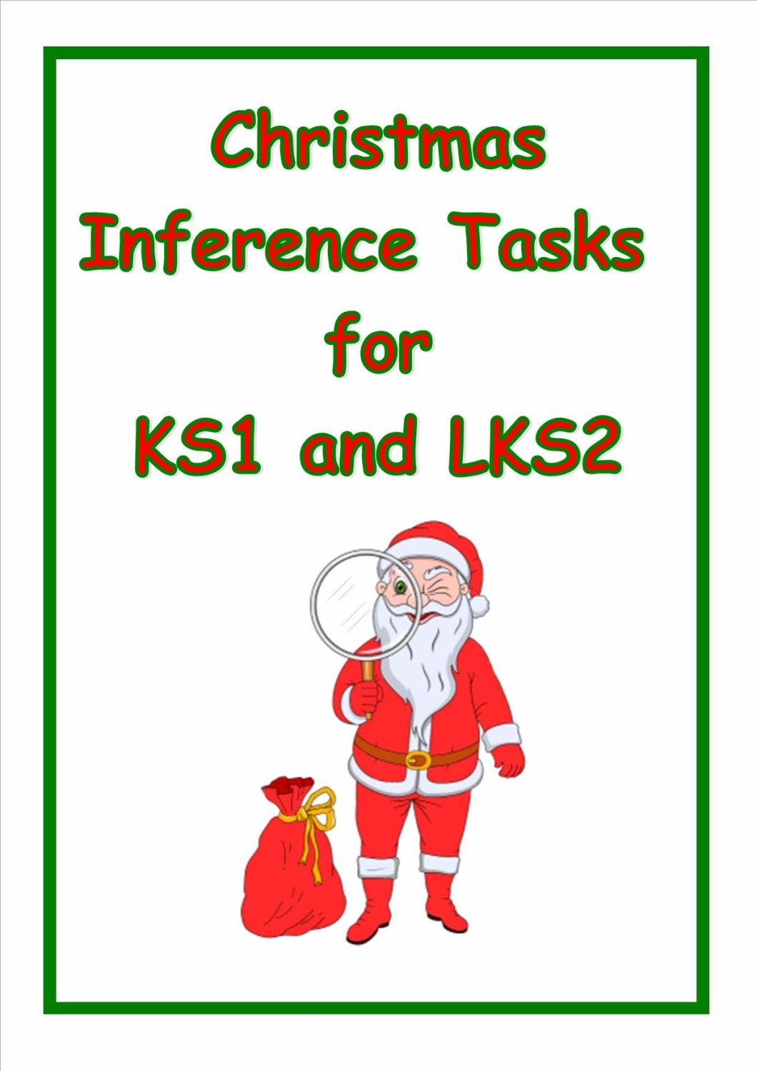 New!  Inference Tasks for Year 2/3 (Great for gathering evidence)