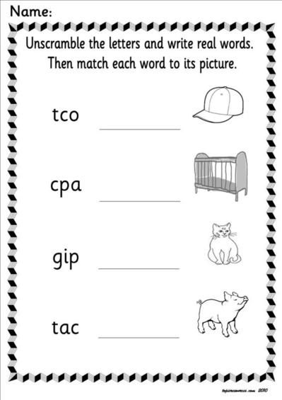 collection 6 of worksheets based around Letters and Sounds , phase 2 ...