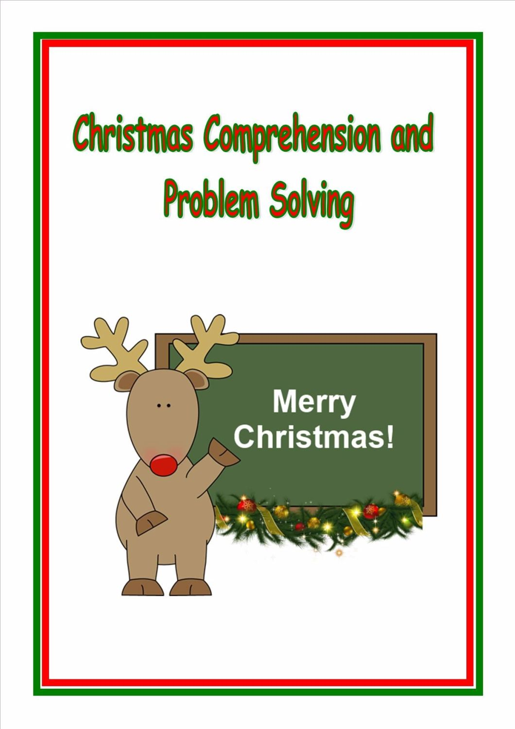 New!  Christmas Comprehension and Problems Solving for KS2