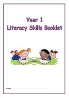 NEW! Year 1 Literacy Skills Activity Booklet