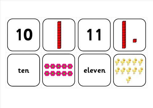Free Numberlines to 20