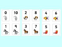 Free Number Bonds to 10 animal matching cards.