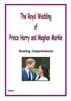 Prince Harry and Meghan - The Royal Wedding Reading Comprehension