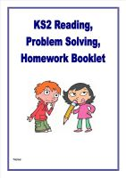 More Reading, Inference,Problem Solving/Homework Activities for KS2 children