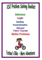 Fatima's Bike - More Adventures, Problem Solving Booklet for KS2