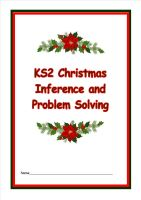 New! KS2 Christmas Inference and Problem Solving Booklet