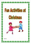 Fun Activities at Christmas.  A super way of providing your children with opportunities to think and have fun at Christmas!