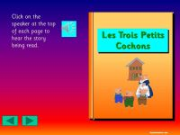 NEW *The Three Little Pigs in French (Les Trois Petits Cochons).*