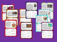 KS2 Festivals Guided Reading Comprehension Cards