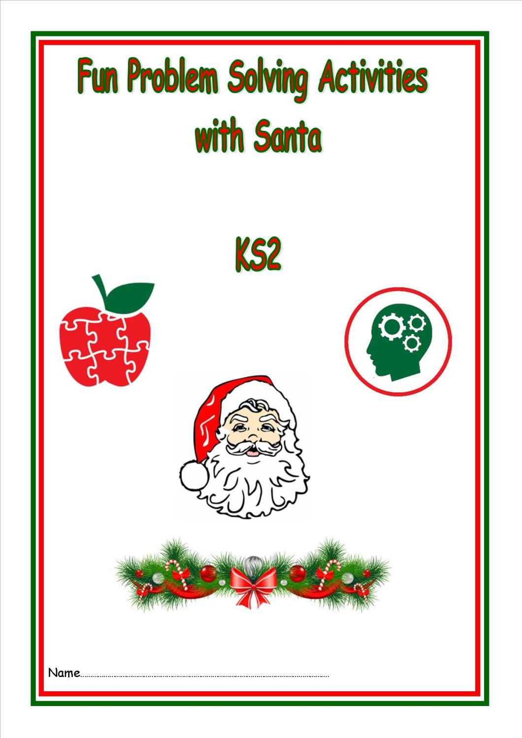 New KS2, Problem Solving with Santa activity booklet and FREE KS2 Festivals