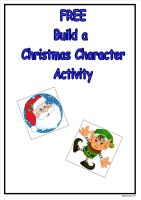 Free Build a Christmas Character Activity