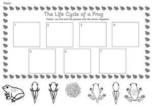 Frog Clipart, Charts & Worksheets -