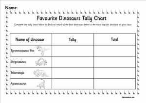Dinosaurs eyfs ks1 sen topic resources powerpoints favourite dinosaur tally chart ibookread Download