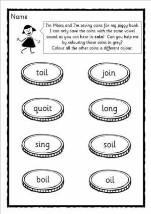 collection of 5 worksheets based around Letters and Sounds , phase 3 ...