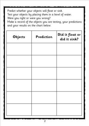 Floating And Sinking Topic Science Eyfs Ks1 Sen Teaching