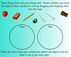 floating and sinking, EYFS, KS1, IPC, topic resources ,free resources, SEN, foundation stage, early years, powerpoints, interactive, key stage 1, year 1, worksheets, labels, games, Early Years Foundation Stage