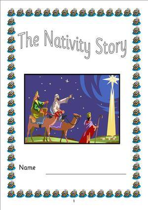 story book for children to use to retell the story of the Nativity ...