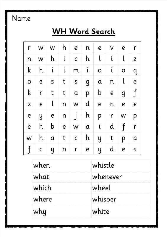 Wh Worksheets Phonics - Laptuoso