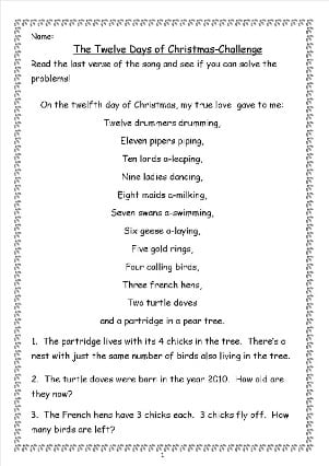 Free Fraction Fun Worksheets Christmas | New Calendar Template Site