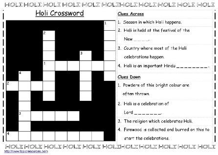 holi crossword