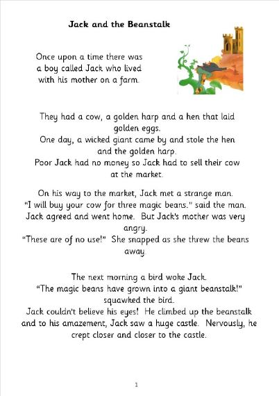 Jack and the Beanstalk Maths - Year 2 SATs pack - this package ...