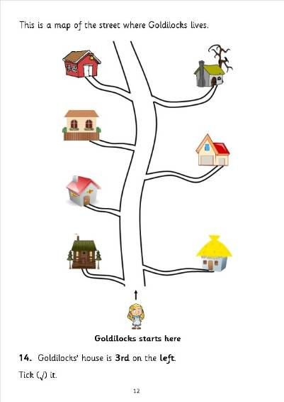 Year 2 maths sats practice questions based on the story of Goldilocks ...