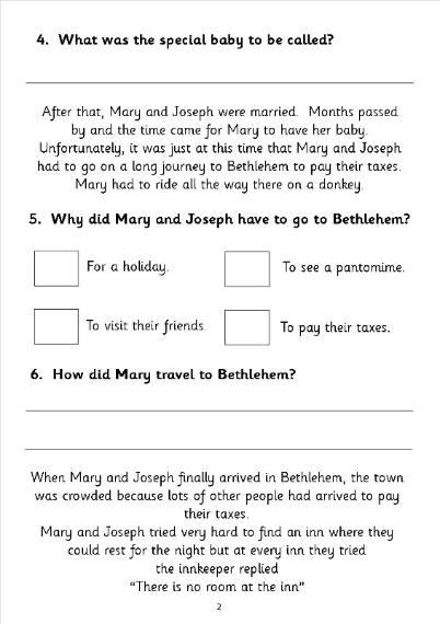 All Worksheets  Christmas Comprehension Worksheets  Printable
