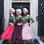 The Spinettes Photoshoot Downing Street 2