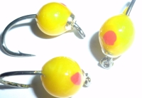 Egg Fly - Hot Glue , Yellow  and Red /E35