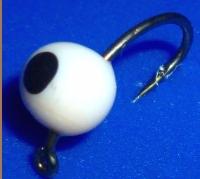 Egg Fly - Hot Glue , White /Black spot  E41