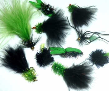 Viva lures selection for uk stillwaters,10 Trout flies assorted patterns