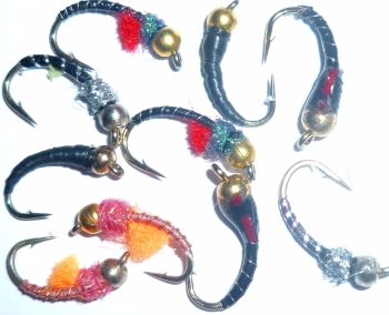 Beadhead Buzzers ,10  x Trout flies, assorted patterns