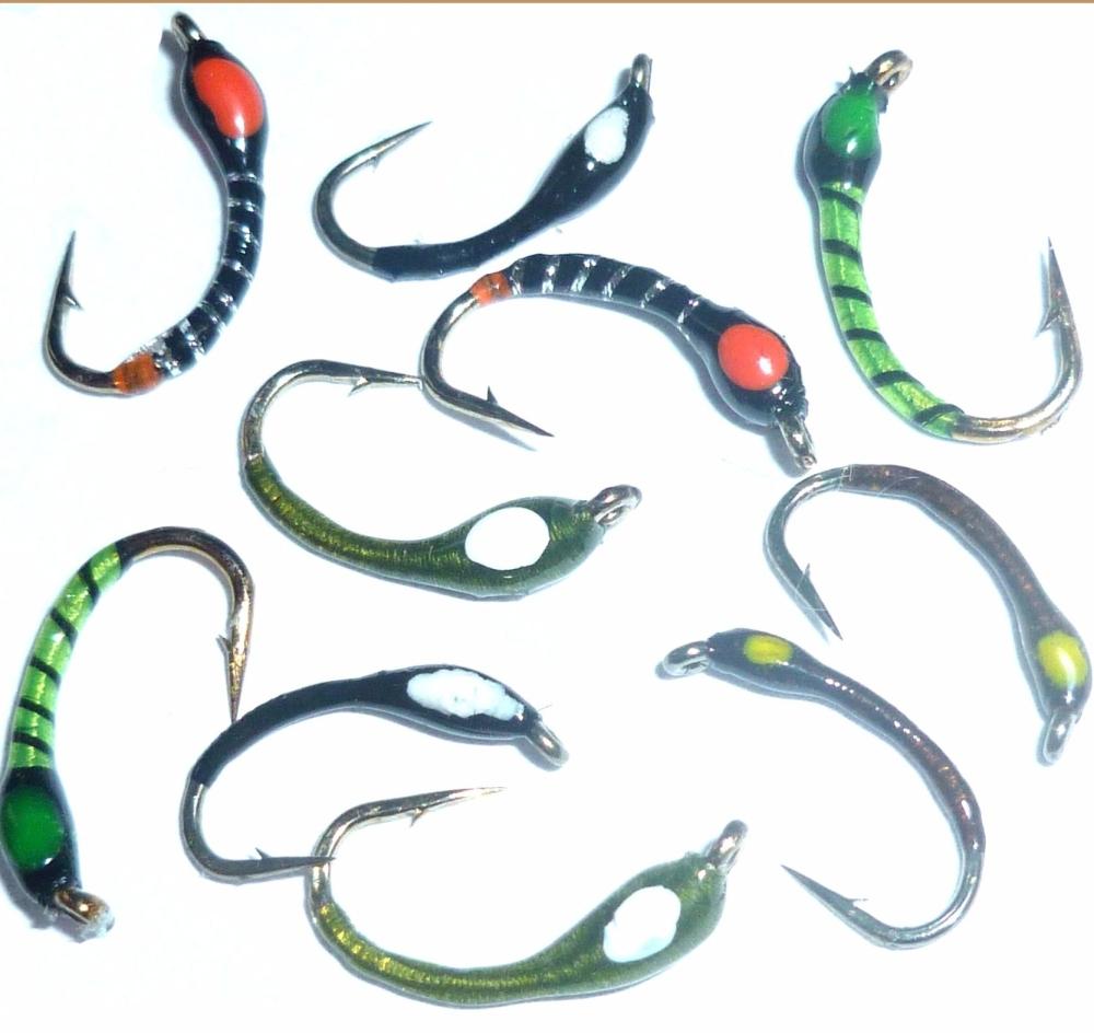 Hot spot Buzzers ,10  x Trout flies, assorted patterns