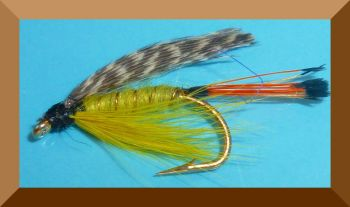 Teal and Yellow,wet fly  (W 32)