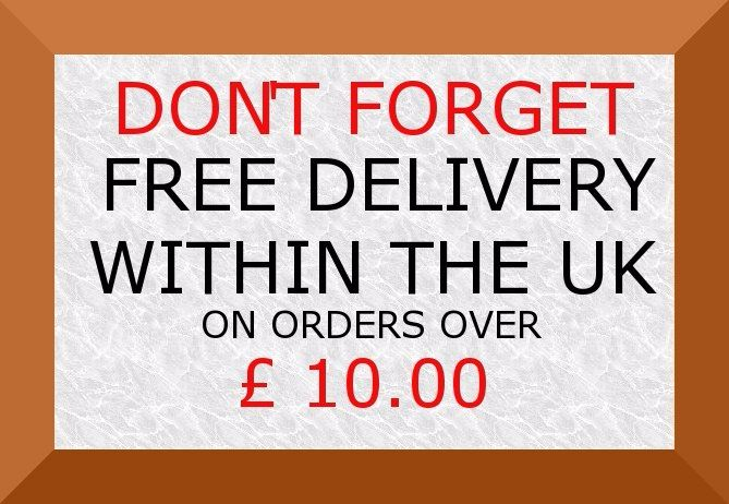 DONT FORGET FREE DELIVERY