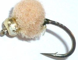 Egg fly ,tan weighted, / E44