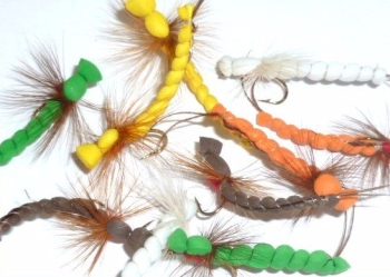Mayflies , foam, 10 xTrout flies , assorted patterns