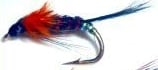 Diawl bach,Orange marabou buds #14 / D25