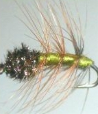 Pulsating Caddis -olive #14 /DR 43